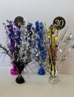 - Spray Cascade Birthday Celebration Table Centerpiece with Heavy Weight