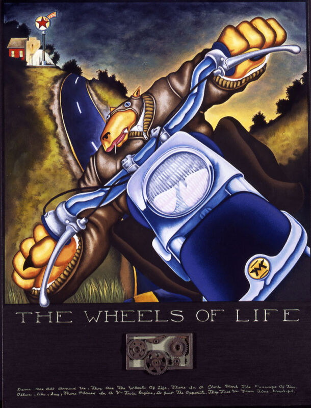 """Markus Pierson """"wheels Of Life"""" Hand Signed Limited Ed Serigraph Art, Motorcycle"""