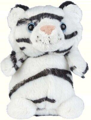 Ravensden Peluche Blanco Tigre Sentado 12CM -FR003WT Suave Animales Juguete