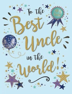 To The Best Uncle In The World Birthday Greeting Card - 8 x 6