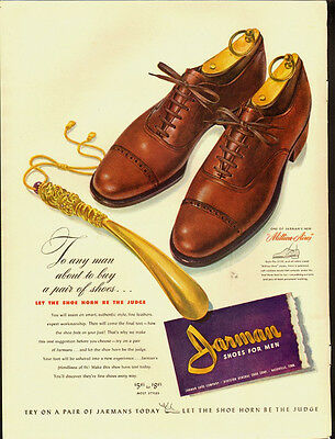 1942 Vintage ad for Jarman Shoes for men/WWII era/40's Fashion (042713)