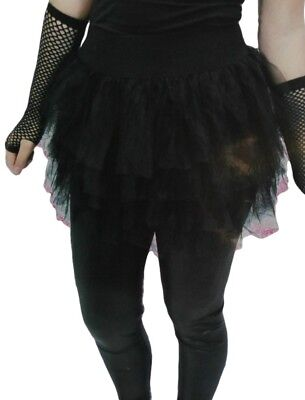 80's Black Tutu Women Eighties Skirt Madonna Punk Goth Costume Party Outfit New (Eighties Costumes)