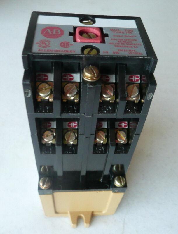 New Allen-Bradley A/B Control Relay, Model 700-PH400B22,  220 - 230vac Coil