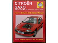 Haynes Manual Citroen Saxo