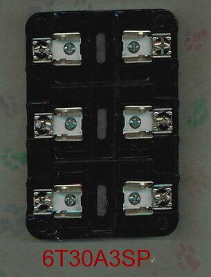 MARATHON FUSE HOLDER  6T30A3SP FUSE BLOCK  3 POLE 30 AMP 600 VOLT 30a Fuse Block Holder