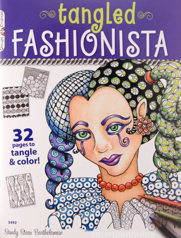 Tangled Fashionista Sandy Steen Bartholomew Design Originals Book Zentangle 3492