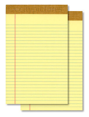 2 5 X 8 50 Sheet Yellow Writing Paper Note Pads - Made In Usa - New