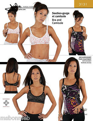 Jalie Bra & Camisole Sewing Pattern 3131 - Regular & Maternity Style In 17 Sizes