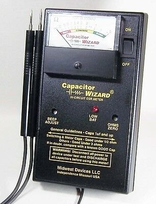Capacitor Wizard ESR Tester with CapSVR Module