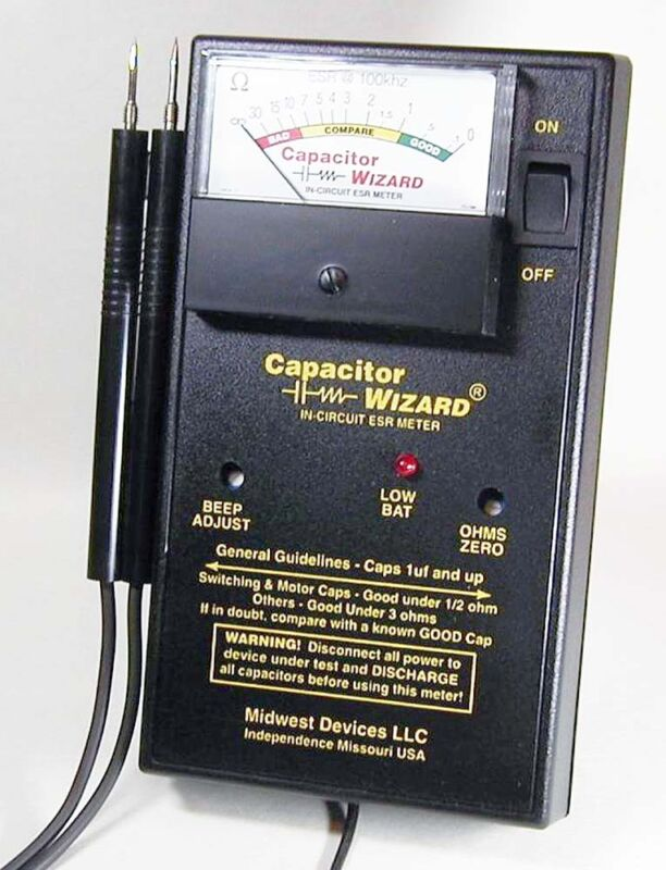 Capacitor Wizard Analog  ESR Tester with Overstress Protection Module