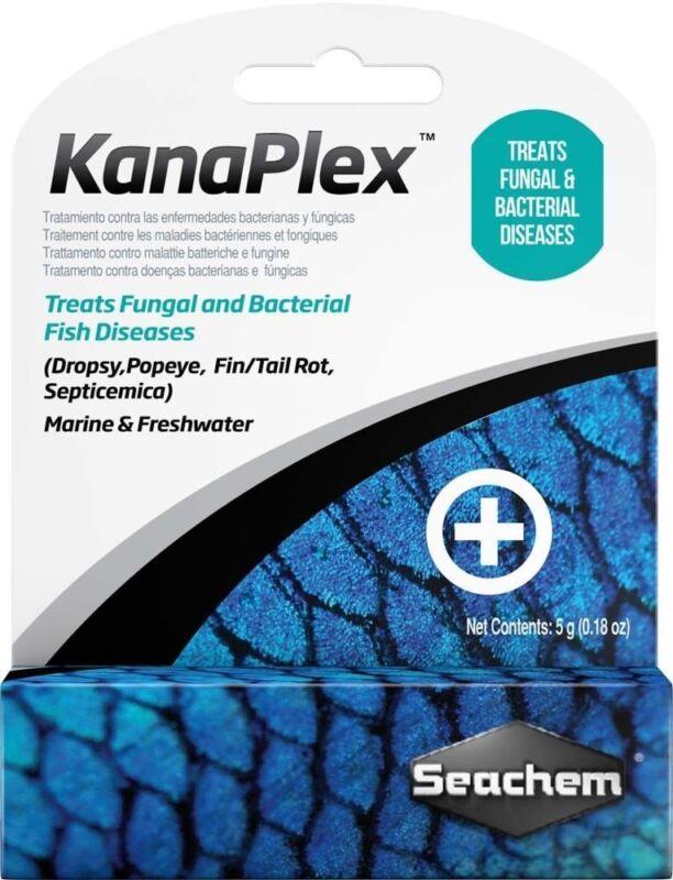 SEACHEM KANAPLEX MEDICATION  Aquarium Fish Dropsy/Popeye/Fin/Tail Rot  5 GM