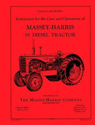 Massey Harris 55 Diesel Operators Service Manual