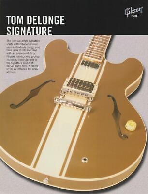 Vintage Gibson Tom DeLonge Signature Electric Guitar Dealer Sheet/Print Ad