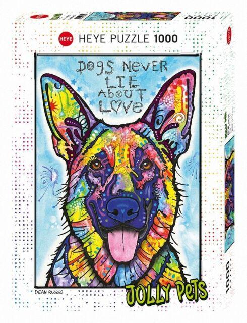 HY29732 - Heye Puzzlespiel - 1000 Stück - Hunde Nie Lie