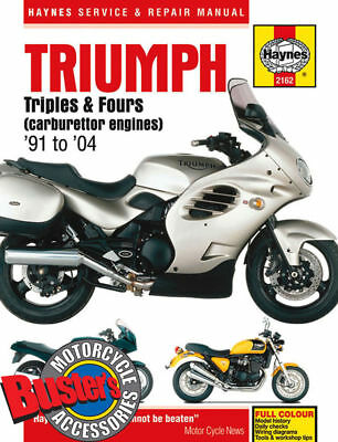 Genuine Haynes Workshop Manual 2162 Triumph Triples And Fours 1991-2004