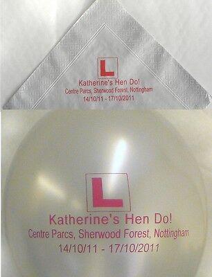 Bedruckte Papier-servietten (20 Taufe luftballons mit 20 bedruckt papierservietten)