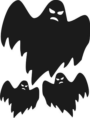 3x Fantasmas Halloween Puerta Pared VENTANAS COCHE pegatinas de vinilo
