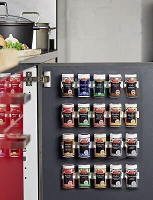 4 Stk Gewürzregal Gewürzbehälter Kunststoff Küchenregal Regal Küche Weiß Halter
