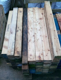 heavy duty thick pallet boards / beams 1 1/4 to 1 3/4 inches thick lengths from 1000mm upto 1200mm
