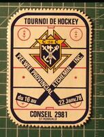 Écusson tournoi PEE-WEE de St-Romuald 1978