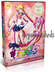 DVD Sailor Moon Collection (Vol. 1 - 200 End + 3 Movie) Complete Series Box Set