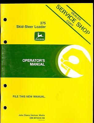 John Deere Operators Manual For 375 Skid-steer Loader