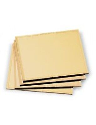 Shade 8 Gold Welding Filter Plate - 4.5 X 5.25 - Polycarbonate Lens For Helmet