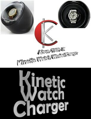 - Single Display Automatic KINETIC Watch Winder/Charger model: Atom-1BPL-K/WPL-K