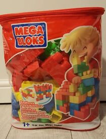 MEGA BLOKS Building Bag of Bricks, 70 Pieces