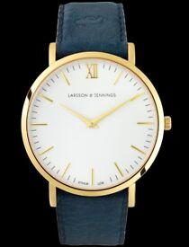 Larsson & Jennings Lugano 40mm Cyan Blue BRAND NEW