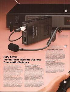 Audio Technica ATW-1032 Wireless Lapel Microphone System