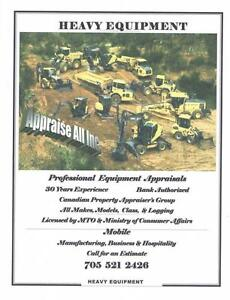 Heavy Equipment, Business & Vehicle Appraisals