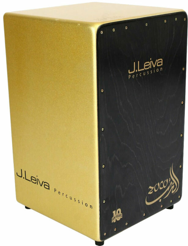Leiva ZOCO ANNIVERSARY CAJON BOX DRUM, Gold sparkle. At Hobgoblin Music