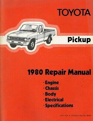 1980 Toyota Pickup Truck Shop Service Repair Manual