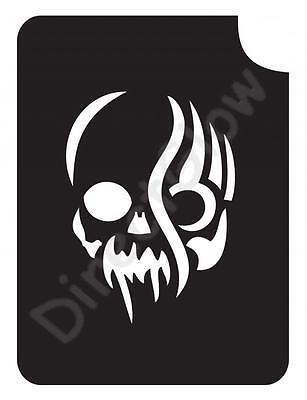Vampire Skull 1013 Body Art Glitter Makeup Tattoo Stencil 2.75