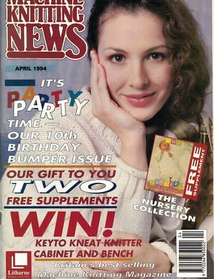 Machine Knitting News Apr 1994 Includes the Nursery Collection & More
