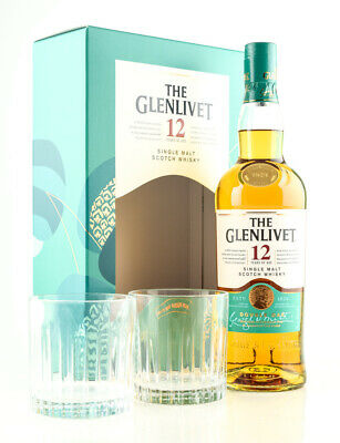 Glenlivet 12 Jahre Double Oak Geschenkset Single Malt Scotch Whisky 0,7l