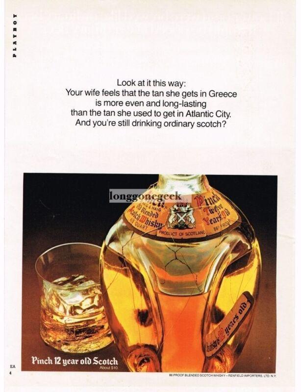 1974 Haig & Haig Pinch Scotch Whiskey Vintage Print Ad