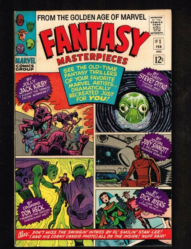 Fantasy Masterpieces #1 ~ Beware!! The Ghosts Surround Me! 1966 (NM) WH