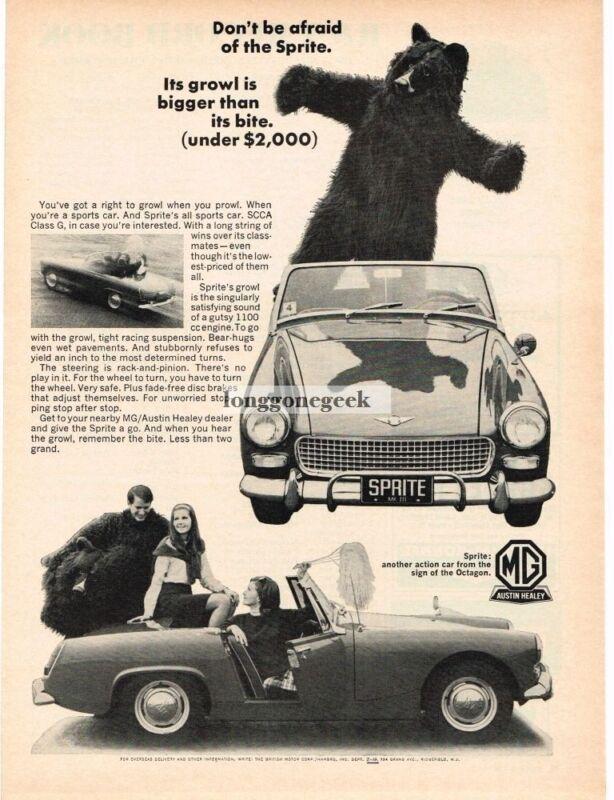 1966 Austin Healy Sprite Mk III Vintage Ad