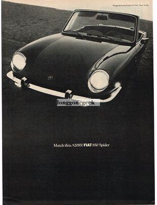 1968 Fiat 850 - 1968 Fiat 850 Spider Vtg Print Ad