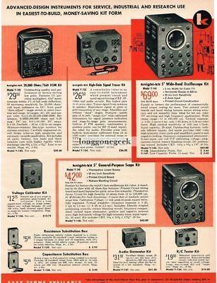 1957 Allied Knight Kit Diy Scopes Meters Test Equipment Tv Repair Vtg Print Ad