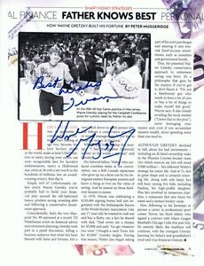 WAYNE GRETZKY  AUTOG #1 PHOTO #2 MY LETTER INCLUDED IS THE ENV