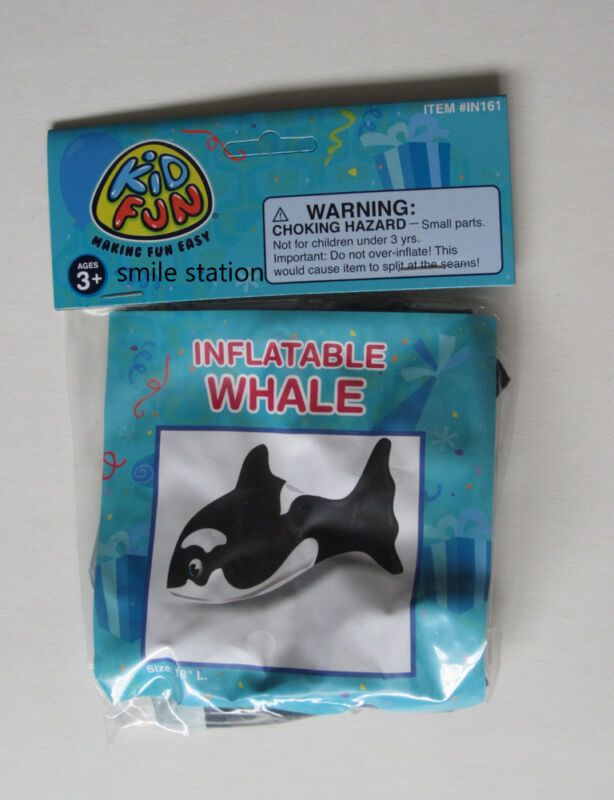 """1 Inflatable 17"""" Killer Whale Orca Blow Up Sea Ocean Life Party Decoration Favor"""