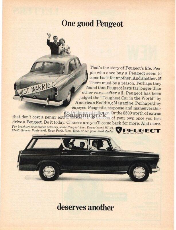 1966 Peugeot 404 Station Wagon Vintage Ad