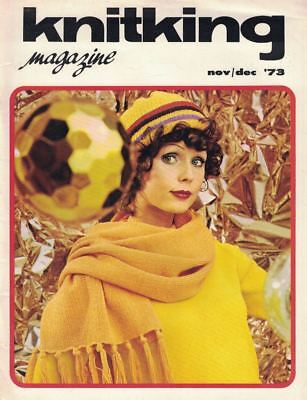 KnitKing Dec 1973 Vintage Machine Knitting Patterns Hip Boho Retro Hippie Mod