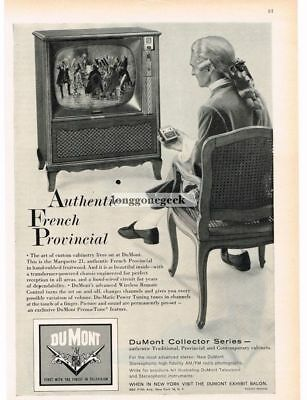 1959 Dumont MARQUETTE 21 TV Floor Console French Provincial VTG PRINT AD