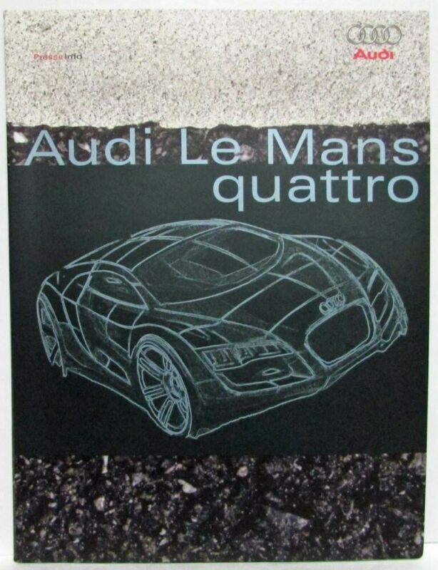 2003 Audi Le Mans Quattro Concept Press Kit