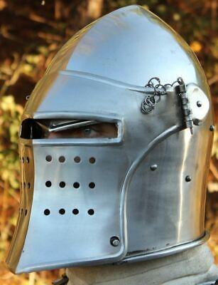 Medieval Knight European Closed Double Face Burgonet Armour Helmet Reproductions (Knight Helmets)