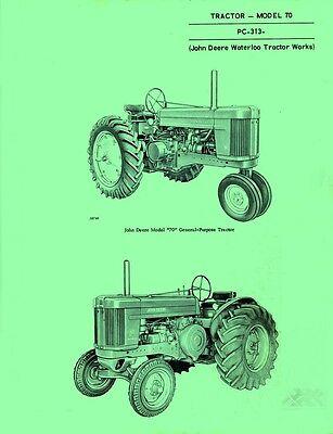 John Deere All Model 70 Tractor Parts Manual Catalog Jd